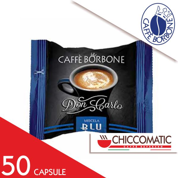 Caffè Borbone Compatibile Lavazza a Modo Mio Miscela Blu - 50 Capsule