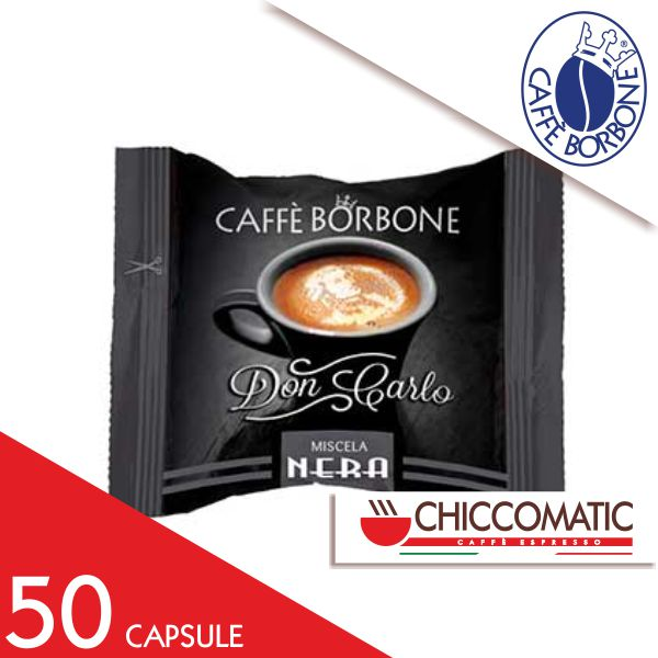 Caffè Borbone Compatibile Lavazza a Modo Mio Miscela Nera - 50 Capsule