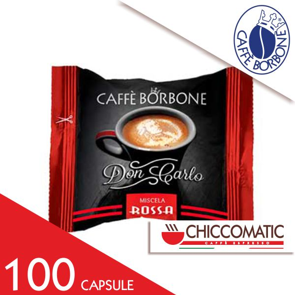 Caffè Borbone Compatibile Lavazza a Modo Mio Miscela Rossa - 100 Capsule