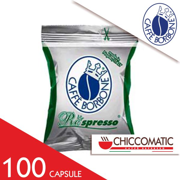 Borbone Compatibile Respresso Miscela Verde Dek 100 Capsule