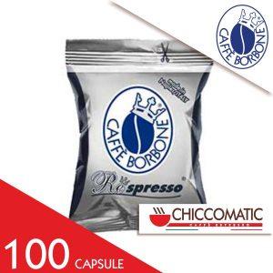 100 Capsule Borbone Compatibile Respresso Miscela Nera