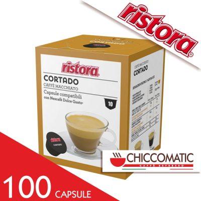 Ristora Compatibile Dolce Gusto Cortado Caffè Macchiato - 100 cialde