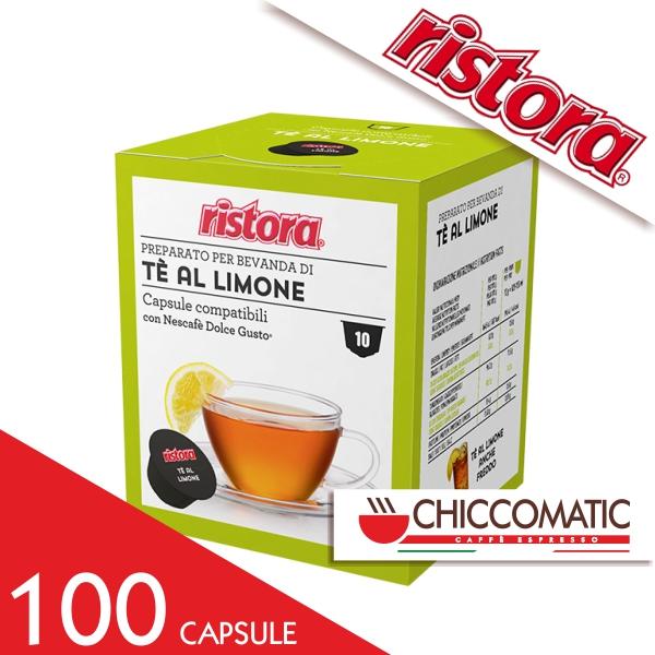 Ristora Compatibile Dolce Gusto Tè al Limone - 100 Cialde