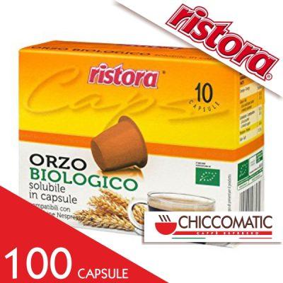 Ristora Compatibile Nespresso Caffè Orzo Biologico - 100 Cialde