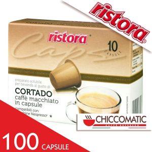 Ristora Compatibile Nespresso Caffè Macchiato Cortado - 100 Cialde - Vendita cialde online Chiccomatic