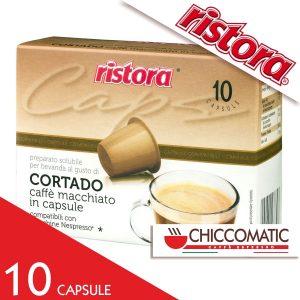 Ristora Compatibile Nespresso Caffè Macchiato Cortado - 10 Capsule - Vendita Capsule Online Chiccomatic