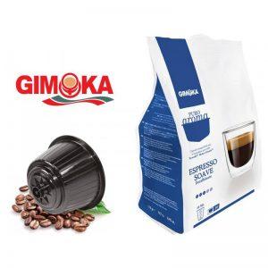 16 capsule caffe gimoka puro aroma miscela espresso soave compatibili nescafe dolce gusto - Chiccomatic Shop Online