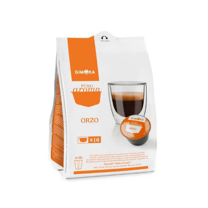 Gimoka Capsule compatibili nescafe dolce gusto cialde puro aroma orzo - Chiccomatic Shop Online