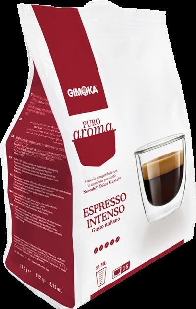 Gimoka puro aroma espresso intenso 16 cialde compatibili nescafè dolce gusto - Chiccomatic Shop Online