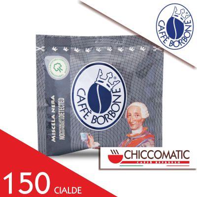 Cialda Nera in Carta ESE Borbone - 150 Cialde